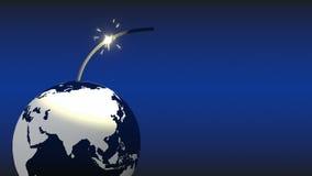 Aarde ongeveer om te blazen - omhoog royalty-vrije illustratie