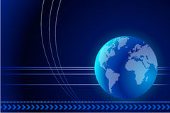 Aarde op Abstracte Achtergrond Stock Illustratie
