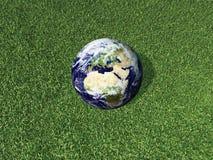 Aarde op bedekt hij met gras Vector Illustratie
