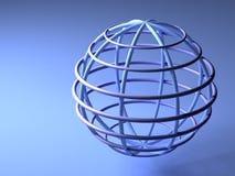 Aarde op blauw Royalty-vrije Stock Afbeeldingen