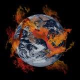 Aarde op brand. Stock Foto