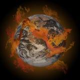 Aarde op brand. Royalty-vrije Stock Foto's