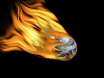 Aarde op brand Stock Afbeeldingen