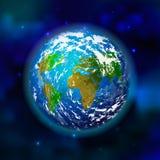 Aarde op ruimteachtergrond Stock Fotografie