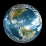 Aarde op zwarte Royalty-vrije Stock Fotografie