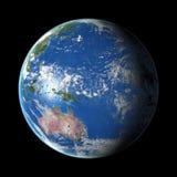 Aarde op zwarte achtergrond Royalty-vrije Stock Afbeeldingen
