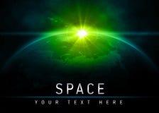 Aarde in ruimte Stock Afbeeldingen