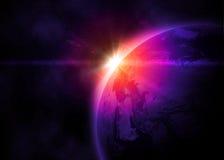 Aarde in ruimte vector illustratie