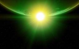 Aarde in ruimte royalty-vrije illustratie