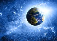 Aarde in ruimte Stock Foto