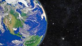 Aarde in ruimte stock videobeelden