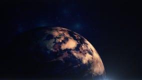 Aarde in Ruimte met Lichte Gloed Stock Fotografie