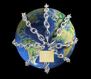 Aarde in sluitingen Royalty-vrije Stock Afbeeldingen