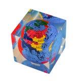 Aarde in transparante kubus Royalty-vrije Stock Fotografie
