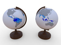 Aarde tropische gebieden royalty-vrije illustratie