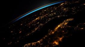 Aarde van ISS wordt gezien die Elementen van deze video die door NASA wordt geleverd stock videobeelden
