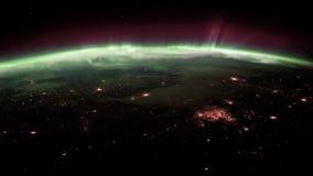 Aarde van ISS wordt gezien die Elementen van deze video die door NASA wordt geleverd stock video