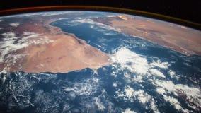 Aarde van ISS wordt gezien die Elementen van deze video die door NASA wordt geleverd stock footage