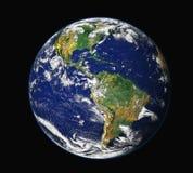 Aarde van ruimte - Amerika Royalty-vrije Stock Foto