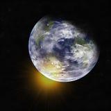 Aarde van ruimte. Elementen van dit die beeld door NASA wordt geleverd. Stock Foto's
