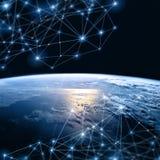 Aarde van Ruimte Het beste Concept van Internet globale zaken van conceptenreeks Elementen van dit langs geleverde beeld Royalty-vrije Stock Foto