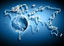 Aarde van Ruimte Het beste Concept van Internet globale zaken van conceptenreeks Elementen van dit langs geleverde beeld Royalty-vrije Stock Foto's