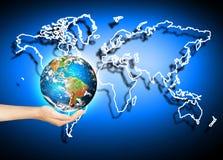 Aarde van Ruimte Het beste Concept van Internet globale zaken van conceptenreeks Elementen van dit langs geleverde beeld Royalty-vrije Stock Afbeelding