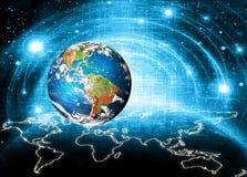 Aarde van Ruimte Het beste Concept van Internet globale zaken van conceptenreeks Elementen van dit langs geleverde beeld Stock Foto's
