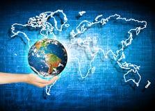 Aarde van Ruimte Het beste Concept van Internet globale zaken van conceptenreeks Elementen van dit langs geleverde beeld Royalty-vrije Stock Fotografie