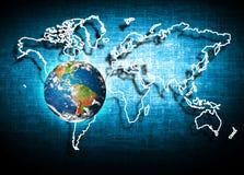 Aarde van Ruimte Het beste Concept van Internet globale zaken van conceptenreeks Elementen van dit langs geleverde beeld Stock Afbeelding