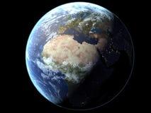 Aarde - Verlicht Semi Royalty-vrije Stock Foto's