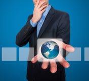 Aarde voor zakenman Royalty-vrije Stock Afbeeldingen