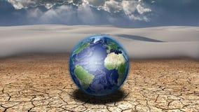 Aarde in woestijn stock illustratie