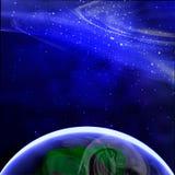 Aarde zoals die van ruimte wordt gezien vector illustratie