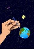 Aarde zoals een opblaasbare ballon Stock Afbeeldingen