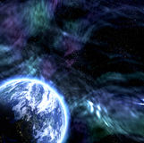 Aarde zoals planeet in ruimte vector illustratie