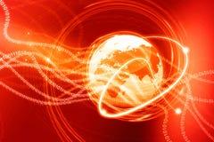 Aardebol met digitale vezels vector illustratie
