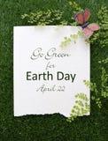Aardedag, 22 April, Conceptenbeeld Stock Afbeeldingen