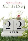Aardedag, 22 April, Conceptenbeeld Stock Foto's