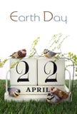 Aardedag, 22 April, Conceptenbeeld Stock Afbeelding