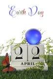 Aardedag, 22 April, Conceptenbeeld Royalty-vrije Stock Foto