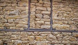 Aarden bakstenen muurtextuur stock foto's