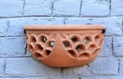 Aarden decoratieve pot Stock Fotografie