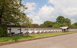 Aarden muur Hei van Kanazawa-Kasteel in Kanazawa, Japan stock afbeeldingen