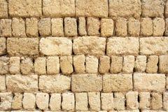 Aarden muur van oud Chinees huis, China stock afbeeldingen