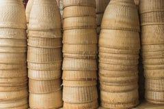 Aarden stoomboot door bamboe stock afbeelding