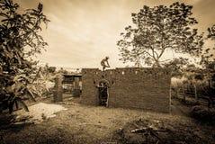 Aarden woningbouw stock foto