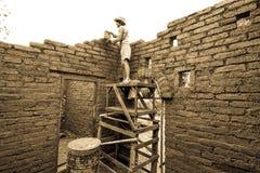 Aarden woningbouw stock foto's