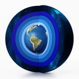 Aardeniveaus van atmosfeerdiagram 3D Illustratie Royalty-vrije Stock Afbeeldingen