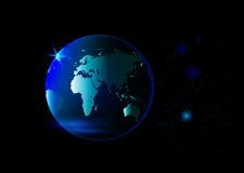Aardeplaneet in ruimte Royalty-vrije Stock Afbeelding